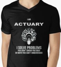 ACTUARY DEFINITION Men's V-Neck T-Shirt