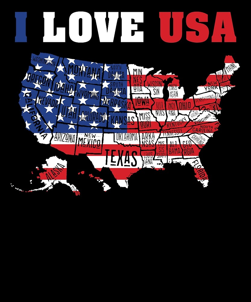 I Love USA Independence Day T Shirt 4th of July by sondinh