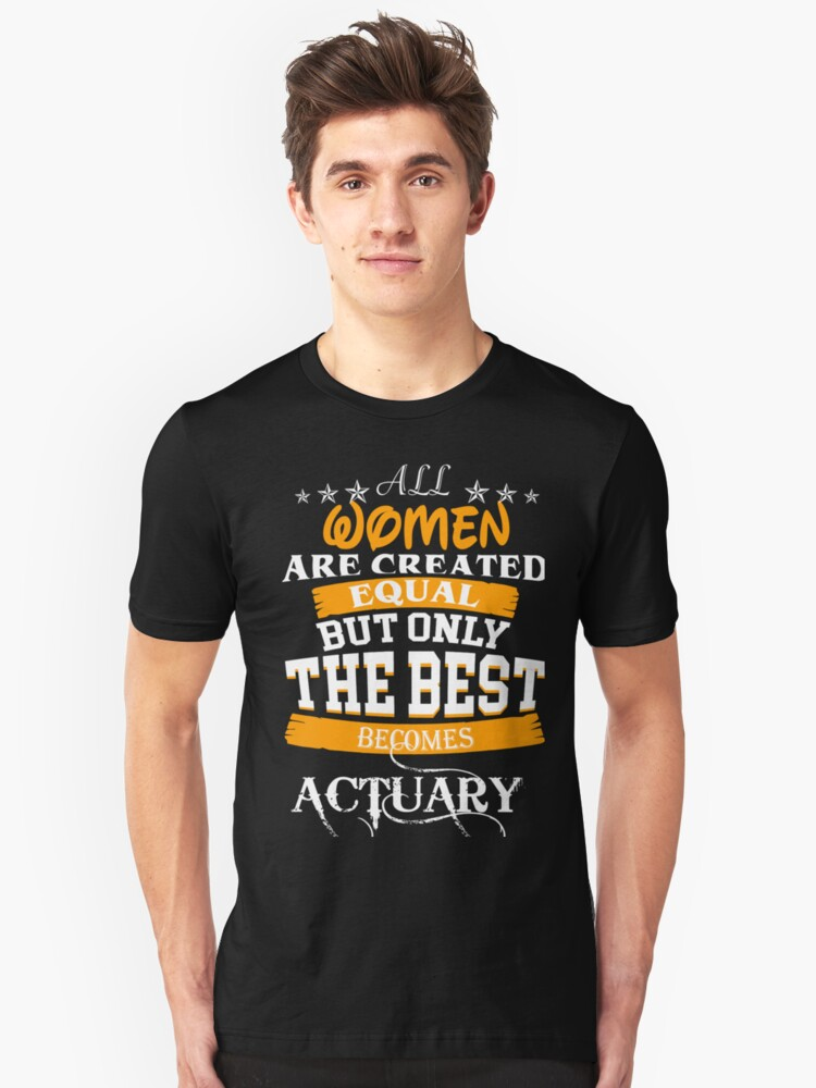 ACTUARY EXCEPT MUCH COOLER Unisex T-Shirt Front