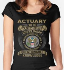 ACTUARY POWERED BY COFFEE Women's Fitted Scoop T-Shirt