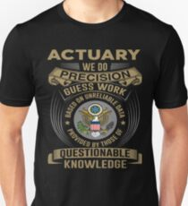 ACTUARY POWERED BY COFFEE Unisex T-Shirt