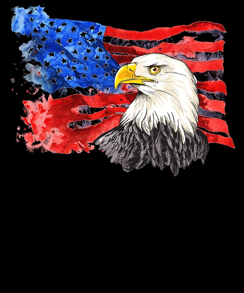 Independence Day Eagle USA Flag Men's T Shirt 4th of July by sondinh