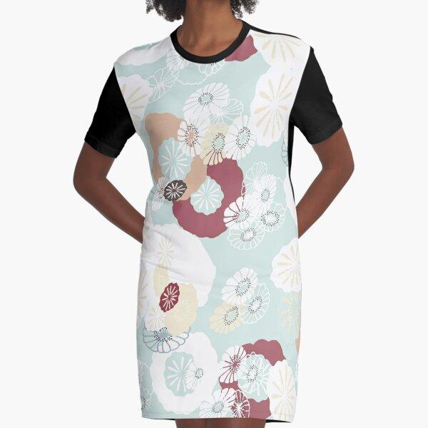 Pretty Poppy Seed Heads Graphic T-Shirt Dress