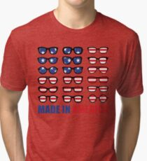 Independence Day T Shirt Made In America For Women And Kids Tri-blend T-Shirt