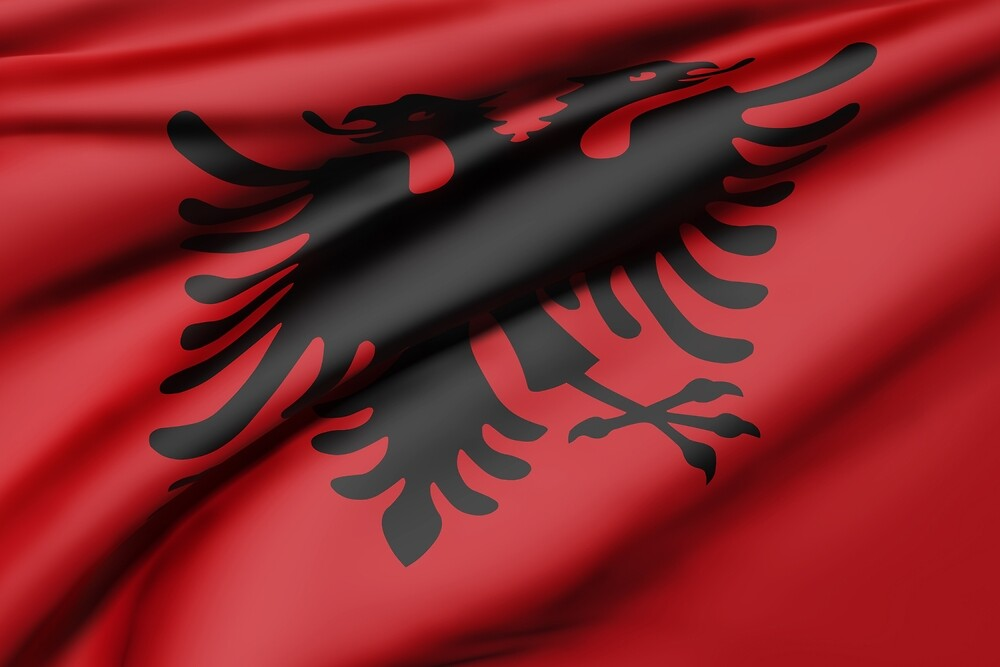Albania flag by erllre74