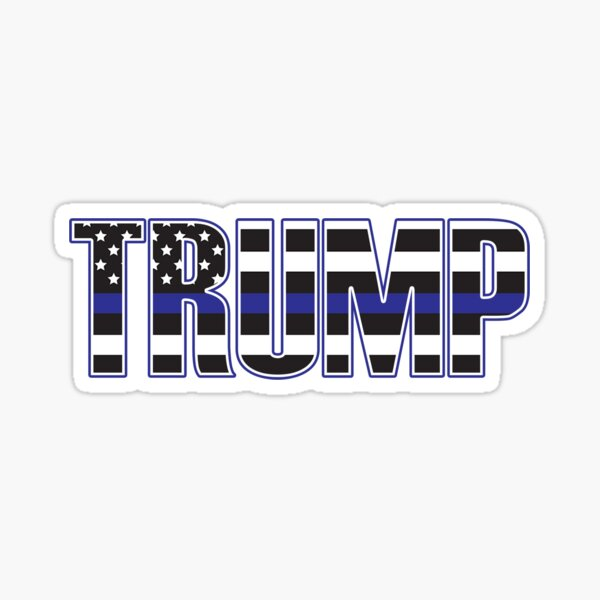 Trump Blue Lives Matter Sticker