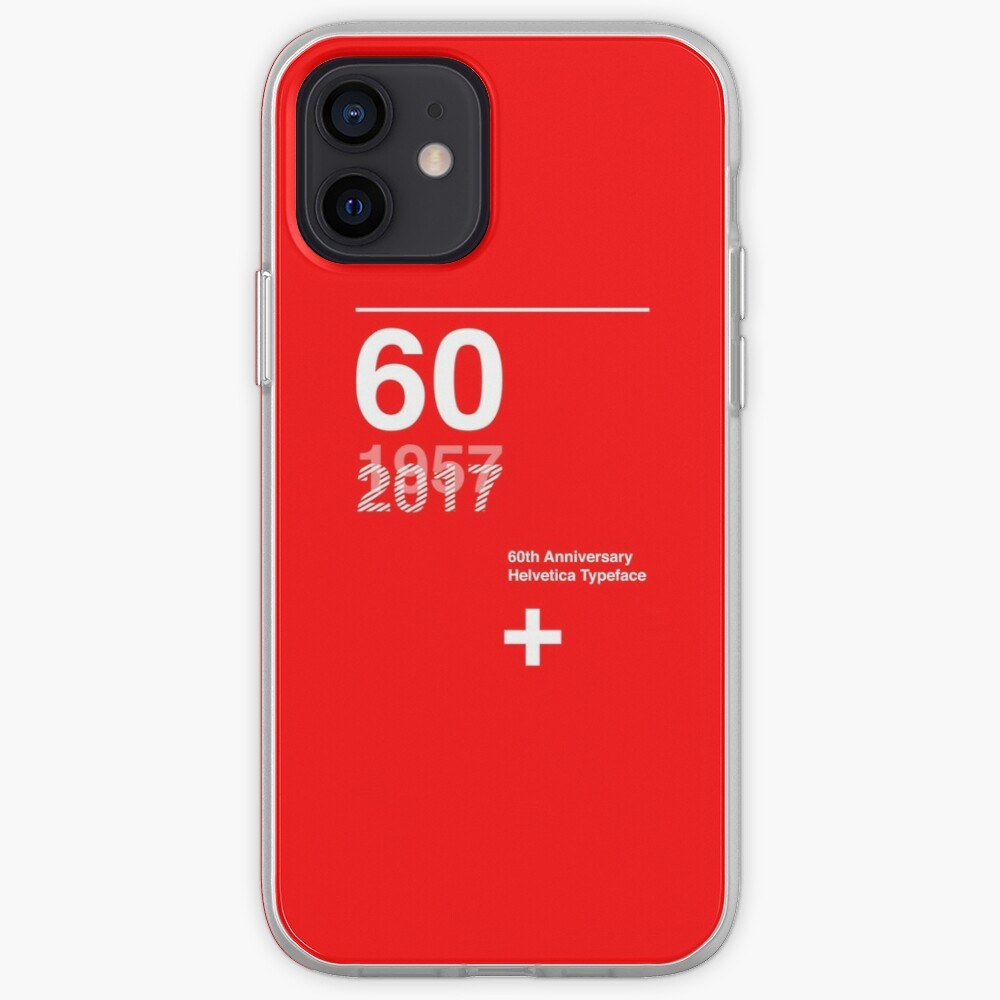 60th Anniversary  Helvetica Typeface iPhone Case & Cover
