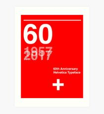 60th Anniversary  Helvetica Typeface Art Print