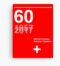 60th Anniversary  Helvetica Typeface Canvas Print