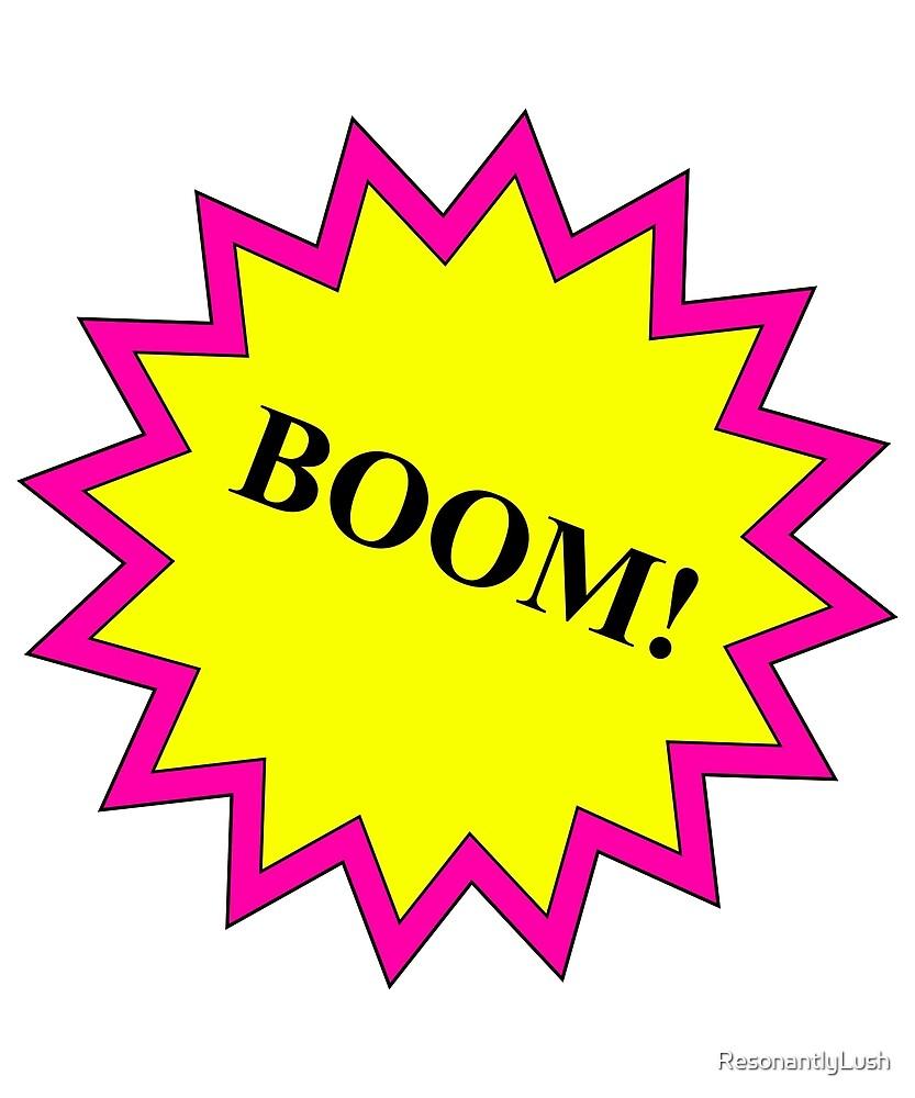 BOOM! Comic style BOOM! Pin/Yel by ResonantlyLush