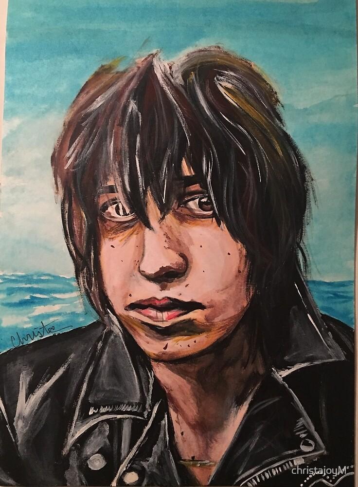 Julian Casablancas painting sticker by christajoyM