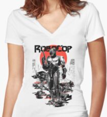 RoboCop - Graphic Novee Style Women's Fitted V-Neck T-Shirt
