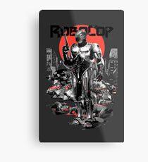 RoboCop - Graphic Novee Style Metal Print