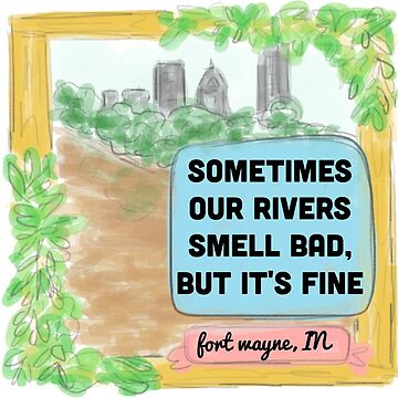 Fort Wayne Rivers Rejected Postcard T-Shirt by kyliejill