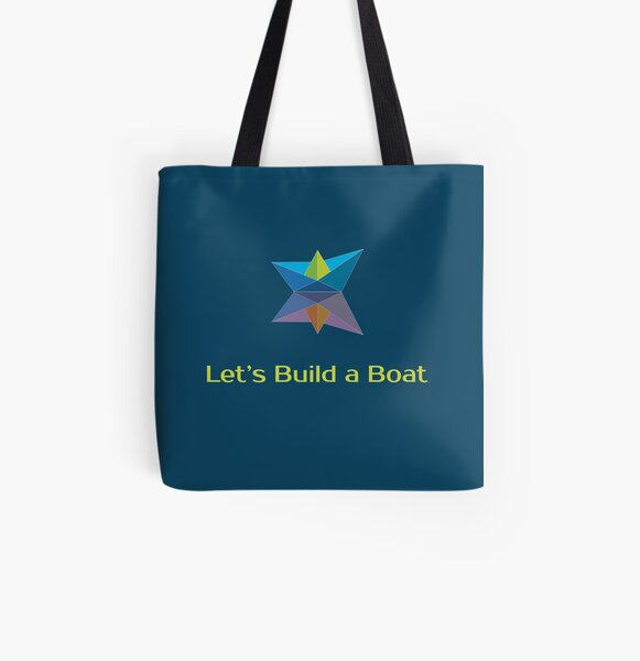 Let's Build a Boat coloured logo All Over Print Tote Bag