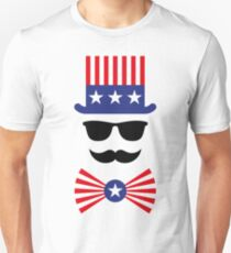 American Mustache (Hipster / Mustached / Beard / Uncle Sam) T-Shirt