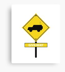 Caution Give Way - Remote Control Cars, Race Cars, RC Car Racing, Drifting Fans Gift Canvas Print
