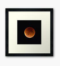 Blood Moon Eclipse,  Brookline,MA Framed Print