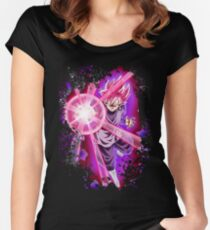 black goku super saiyan rose Women's Fitted Scoop T-Shirt