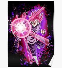 black goku super saiyan rose Poster