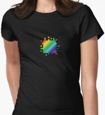 Bitmap Rainbow Women's Fitted T-Shirt