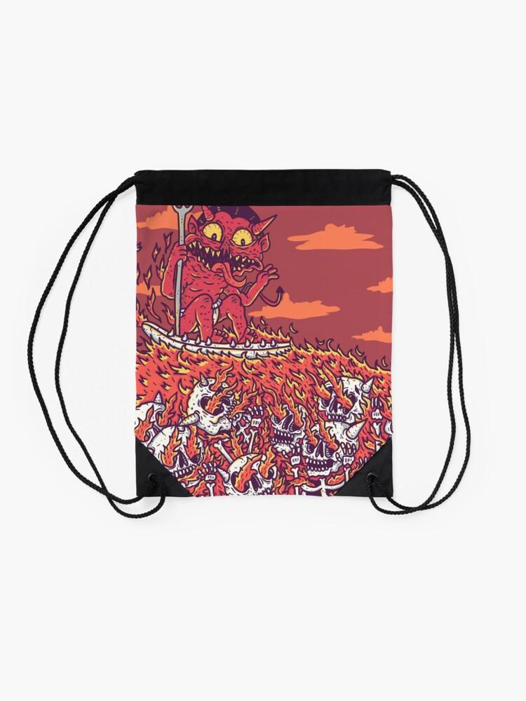 Alternate view of hellsurf Drawstring Bag