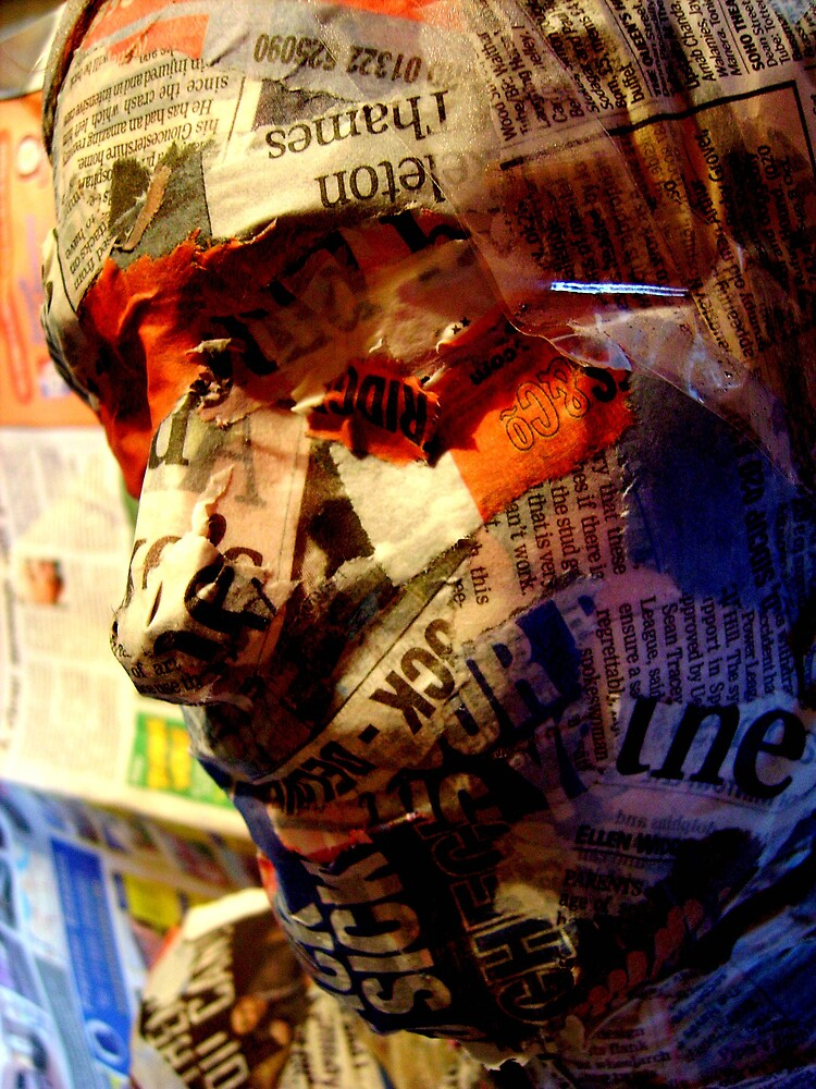 newspaper face by AliceFrench7
