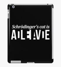 Schrödinger's cat // Funny Puzzle design  iPad Case/Skin