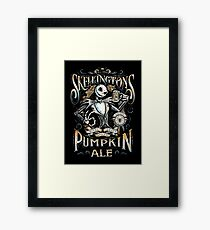 Nightmare Before Christmas - Skellingtons Pumpkin Ale Framed Print