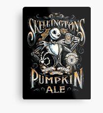 Nightmare Before Christmas - Skellingtons Pumpkin Ale Metal Print