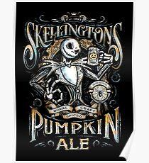 Nightmare Before Christmas - Skellingtons Pumpkin Ale Poster