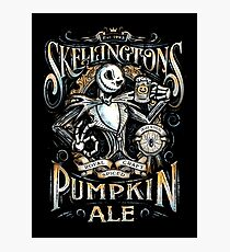 Nightmare Before Christmas - Skellingtons Pumpkin Ale Photographic Print