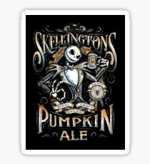 Nightmare Before Christmas - Skellingtons Pumpkin Ale Sticker