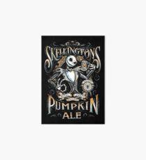 Nightmare Before Christmas - Skellingtons Pumpkin Ale Art Board