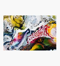 Multi Coloured Marble Abstract Photographic Print