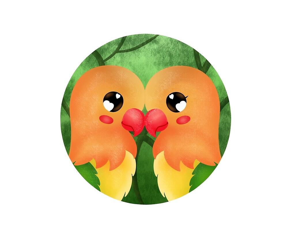 Lovebirds open eyes by Kimberley1998