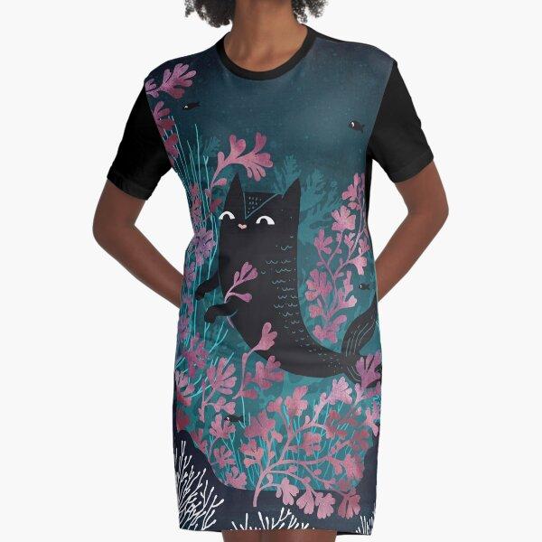 Undersea Graphic T-Shirt Dress