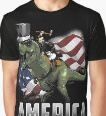 Abe Riding a Dinosaur!  Graphic T-Shirt