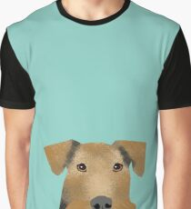 airedale terrier dog print airedale dogs Graphic T-Shirt