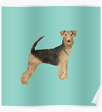 airedale, airedale terrier, dog, dogs, dog print, dog art, pet,  pet art, airedale art, airedale terrier art, airedale gift, gift shop, dog gifts,  Poster