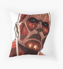 Titan Colossal - Shingeki No Kyojin Throw Pillow