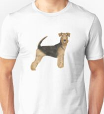 airedale, airedale terrier, dog, dogs, dog print, dog art, pet,  pet art, airedale art, airedale terrier art, airedale gift, gift shop, dog gifts,  Unisex T-Shirt
