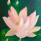 Pink Lotus Blossom by Vaillancourt