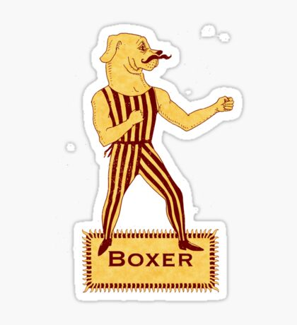 Boxer Dog Bonzo Bones Sticker