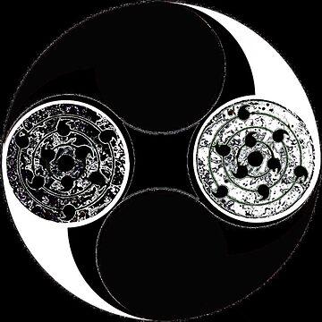 Black & White Tomoe symbol by JosephAngelX