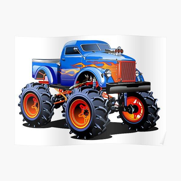 Cartoon Monster Truck Poster