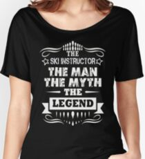 SKI INSTRUCTOR THE LEGEND Women's Relaxed Fit T-Shirt