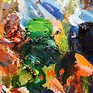 Rustic painter palette by Vaillancourt