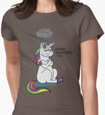 Unicorns Have Bad Days Womens Fitted T-Shirt