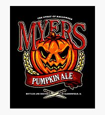 Halloween - Myers Ale Photographic Print